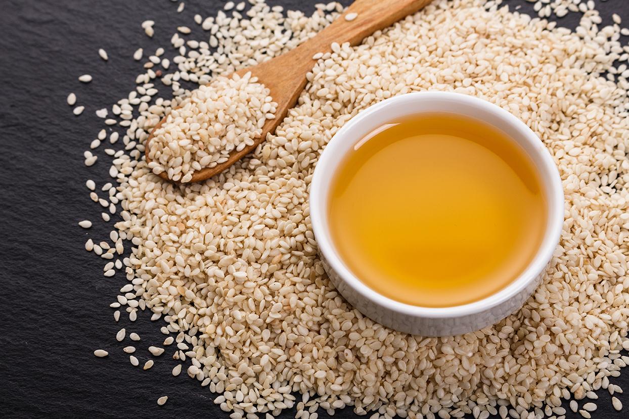Sesame seeds and sesame oil.