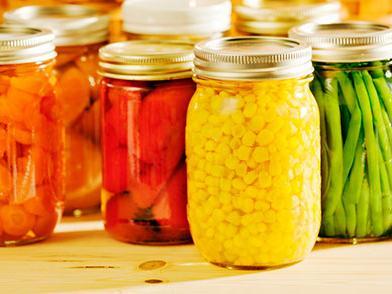 Vegetables in jars